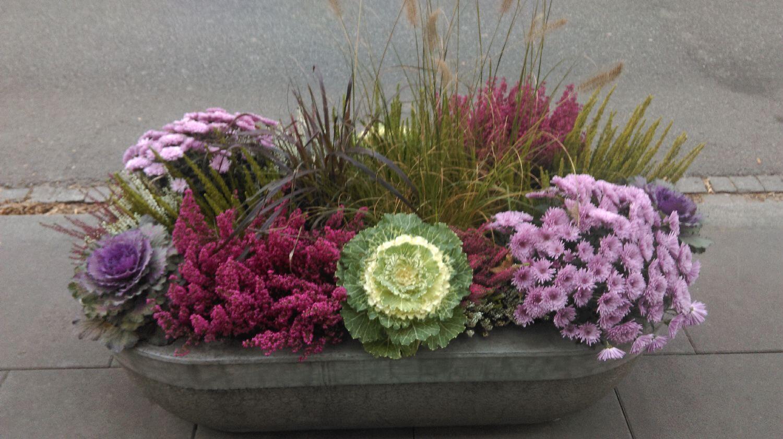 donica z kwiatami