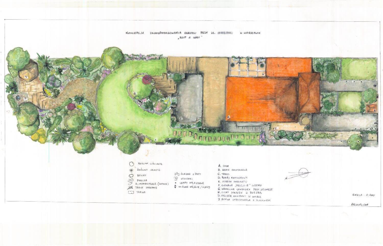 archiflora koncepcja zagospodarownia ogrodu
